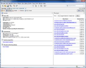 NetBeans profiler - heap dump inspection