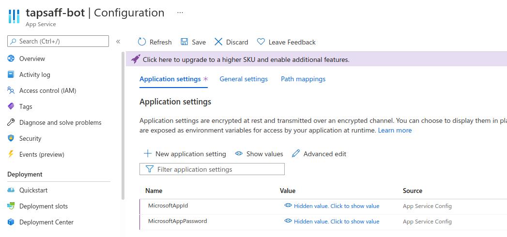 Azure App Service: Configuration