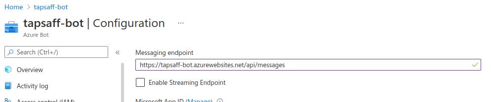 Azure Bot Service: Configuration